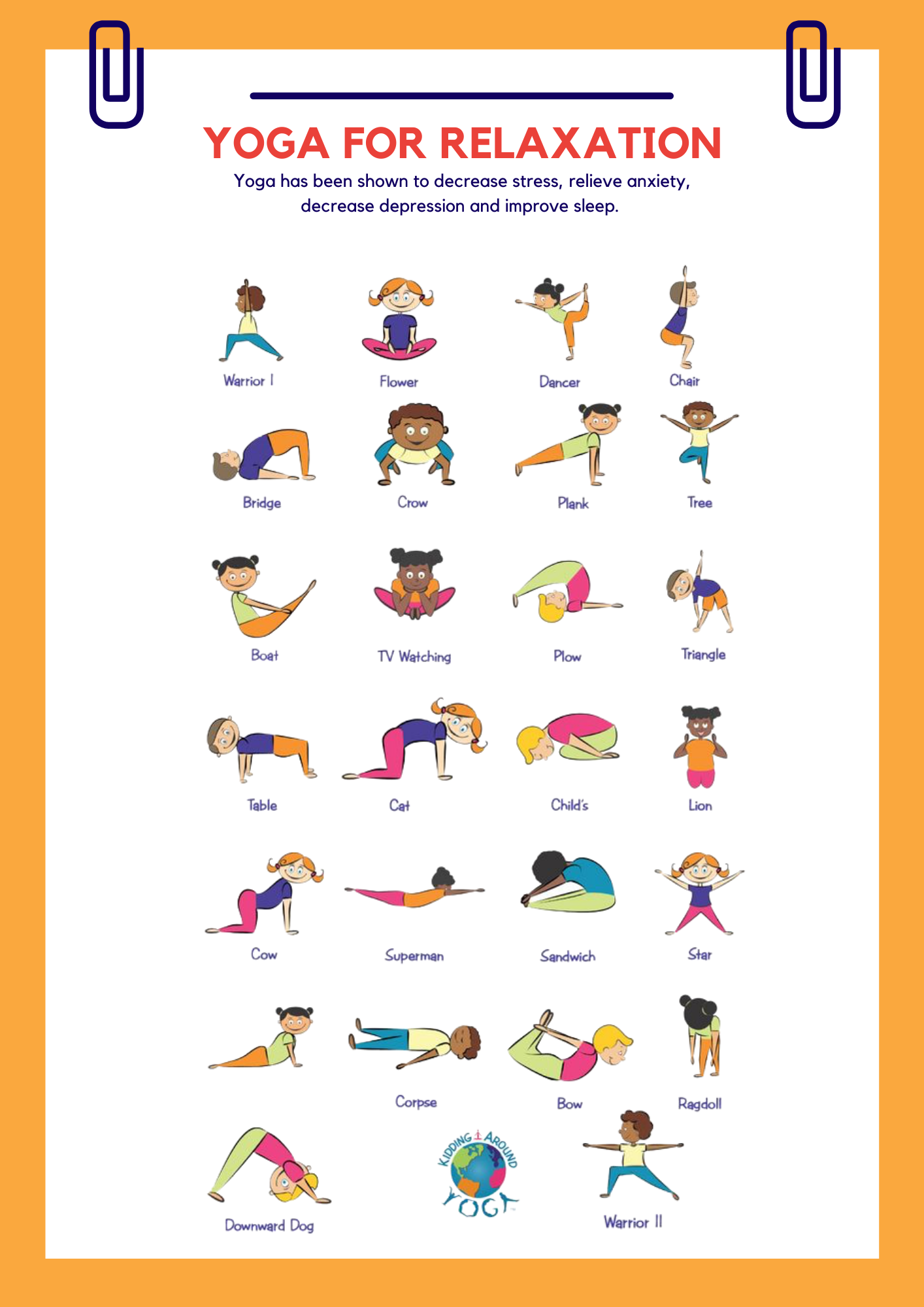 Well-Being Workbook yoga poses
